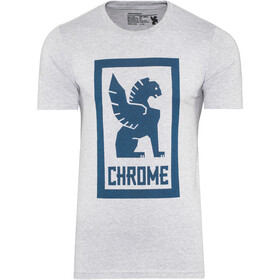 Chrome Large Lock Up Camiseta Hombre, heather grey/navy graphic